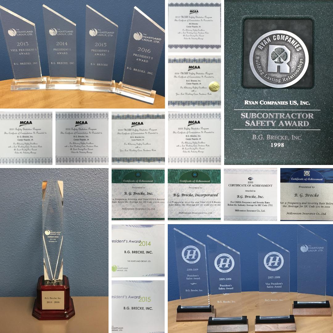 Brecke Safety Awards